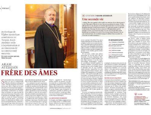 Aram Ateshian, frère des âmes (Le Monde des religions)