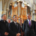 Laurent Wauquiez en visite à la cathédrale du Puy-en-Velay en 2011 — Photo Wojazer/Pool/Sipa.