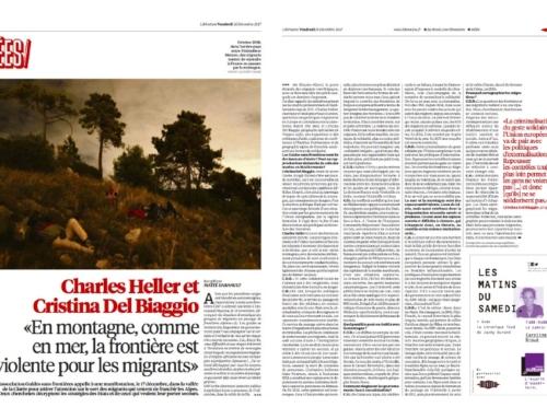 Charles Heller et Cristina Del Biaggio : «En montagne, comme en mer, la frontière est violente pour les migrants» (Libération)