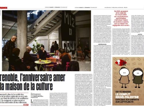 A Grenoble, l'anniversaire amer de la maison de la culture (Libération)