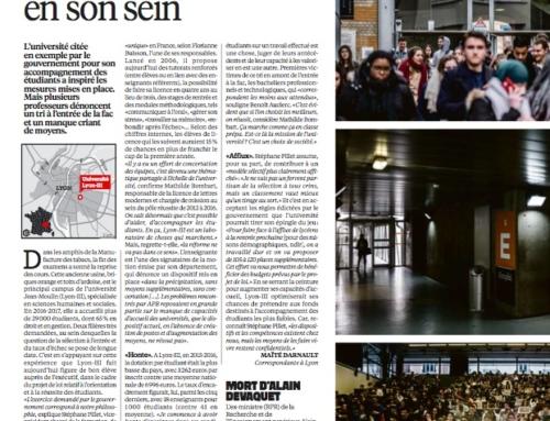 Lyon-III, laboratoire de la réforme divisé en son sein (Libération)