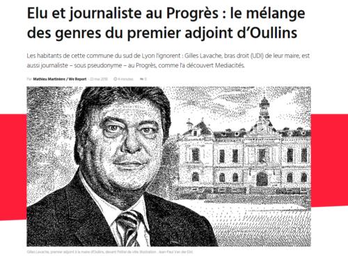Elu et journaliste au Progrès : le mélange des genres du premier adjoint d'Oullins (Mediacités)