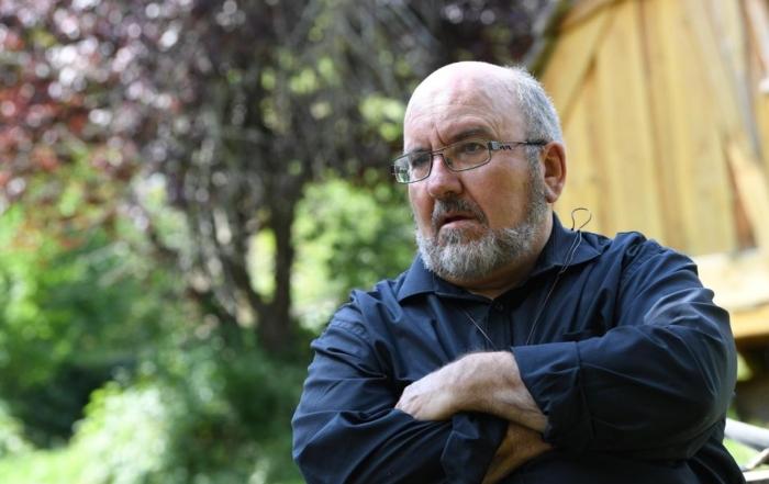 Le père Pierre Vignon à Saint-Martin-en-Vercors, mercredi. Photo JEAN-PIERRE CLATOT. AFP