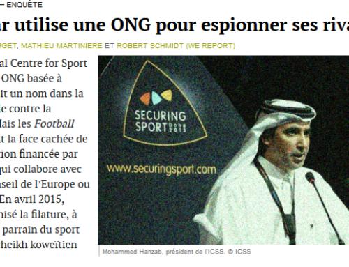 Le Qatar utilise une ONG pour espionner ses rivaux (Mediapart)