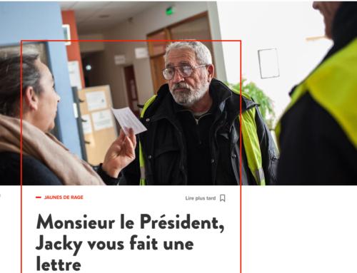 Monsieur le Président, Jacky vous fait une lettre (Les Jours)