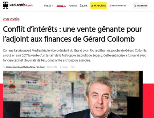 Conflit d'intérêts : une vente gênante pour l'adjoint aux finances de Gérard Collomb (Mediacités)