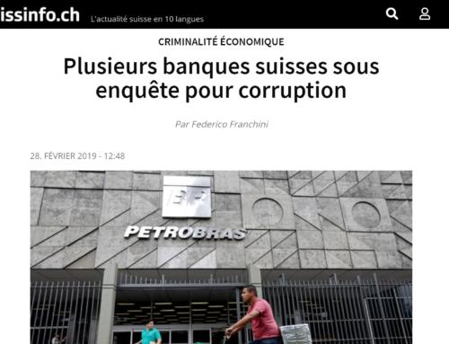 Plusieurs banques suisses sous enquête pour corruption (Swissinfo)