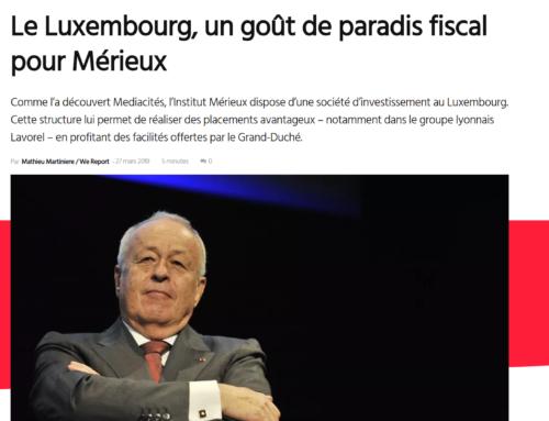 Le Luxembourg, un goût de paradis fiscal pour Mérieux (Mediacités)