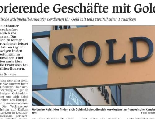Une vraie mine d'or (Kehler Zeitung)