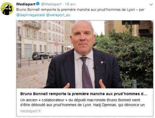 Bruno Bonnell remporte la première manche aux prud'hommes de Lyon (Mediapart)