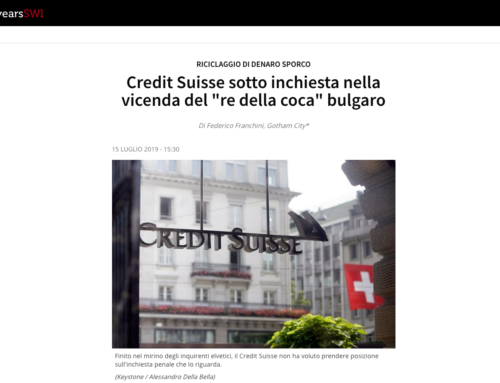 Credit Suisse sotto inchiesta nella vicenda del «re della coca» bulgaro (Swissinfo)