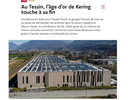 Au Tessin, l'âge d'or de Kering touche à sa fin (Le Temps)