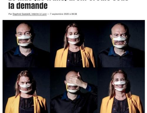 Le masque transparent croule sous la demande (Libération)