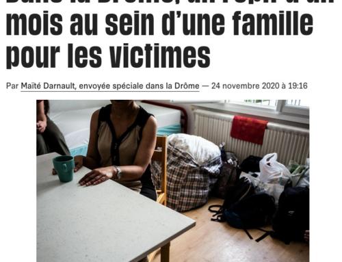 Dans la Drôme, un répit d'un mois au sein d'une famille pour les victimes (Libération)