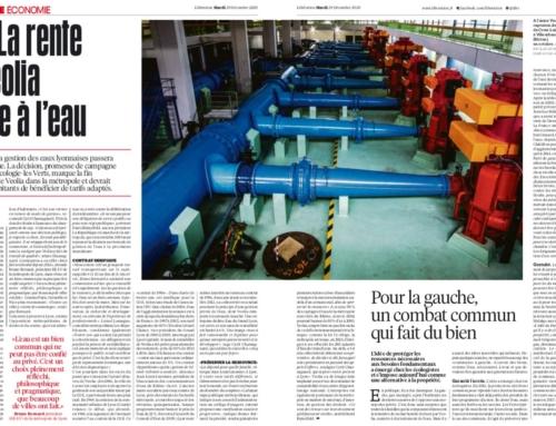 Lyon : La rente de Veolia tombe à l'eau (Libération)