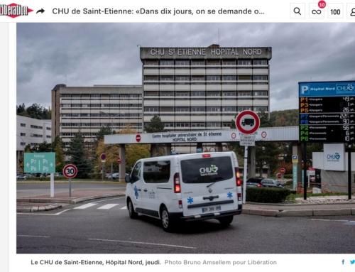 CHU de Saint-Etienne: «Dans dix jours, on se demande où on mettra les patients» (Libération)