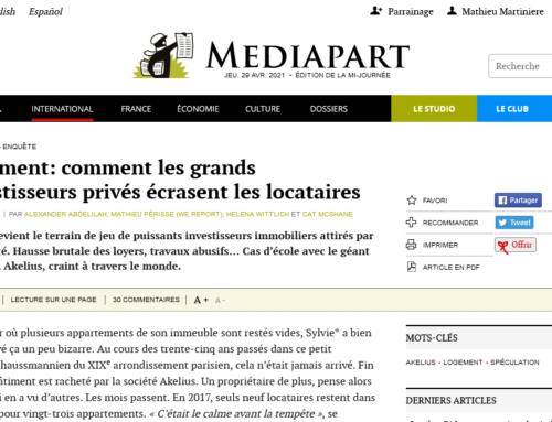 Logement: comment les grands investisseurs privés écrasent les locataires (Mediapart)