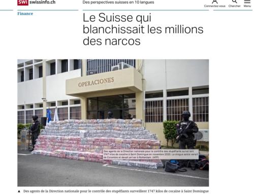 Le Suisse qui blanchissait les millions des narcos (Swissinfo)